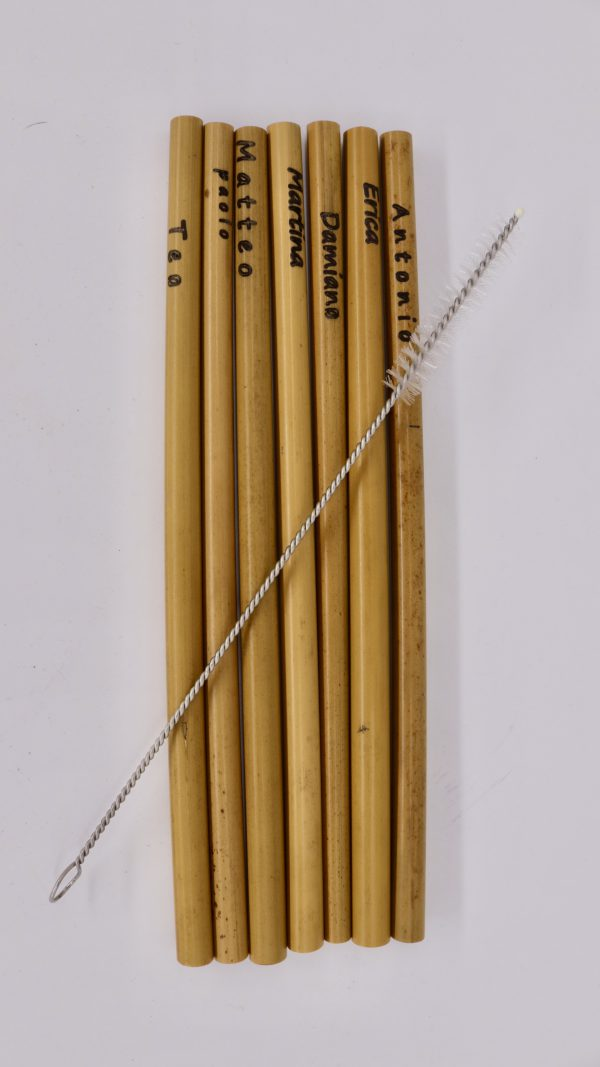 Bambus-Trinkhalm mit Bürstchen