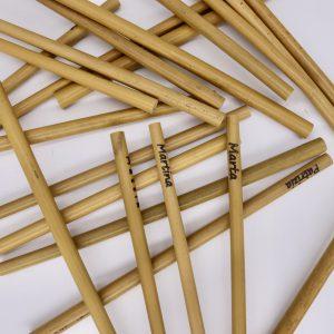 Trinkhalme aus Bambus
